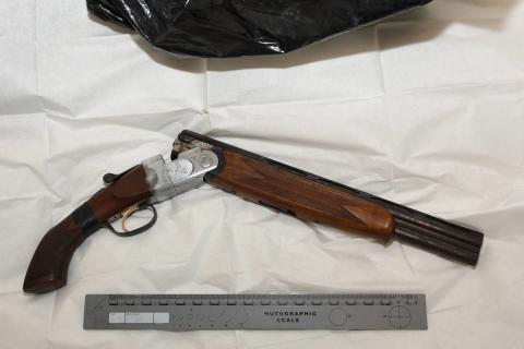 Wanted teenager arrested and knife and shotgun recovered following warrant in Walton