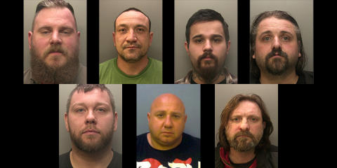 Seven bikers convicted of 68 counts in relation to attack in Blindley Heath in November