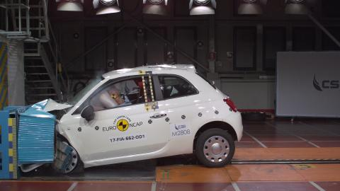 Fiat 500 Frontal Offset Impact Test 2017