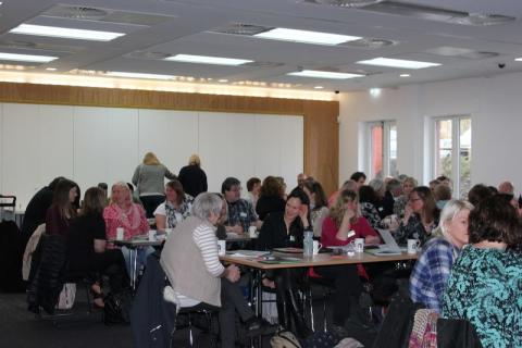 A busy room at Grounds to Grow in Saracen House