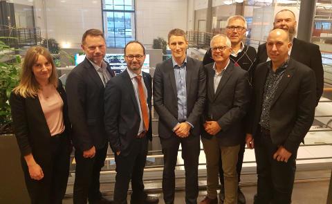 Infrastrukturministern besöker Green Cargo i Hallsberg