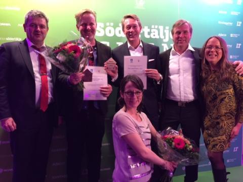 Nibble Gård och Hälsan Östertälje vann Årets byggnadsverk respektive Årets renovering 2016 i Södertälje