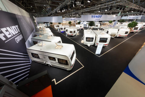 Fendt-Caravan präsentierte sich auf dem Caravan Salon mit einem neuen Messekonzept