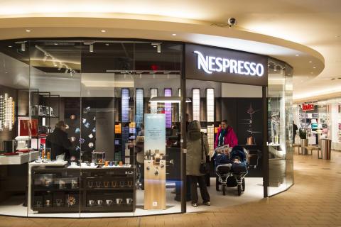 Mandag 4. april åpnet dørene til Nespresso sin nye pop-up Boutique på Ski Storsenter