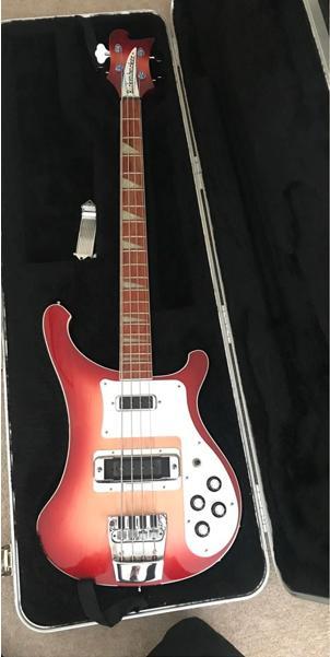 Stolen red Rickenbacker 4003 Bass