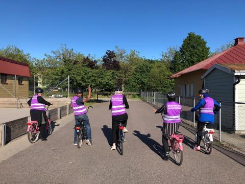 Kursavslutning Cykelskola