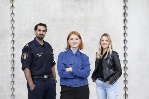 Clara Henry, Johanna Frändén och Nadim Ghazale tar sig an skrivglappet