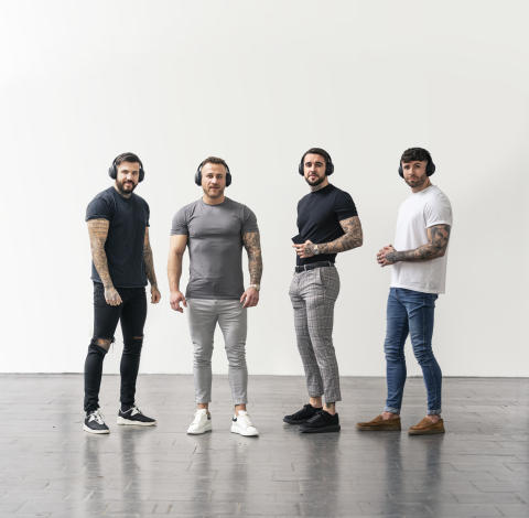 Sony signs up 'The Four Lads in Jeans' as inspirational 'poster boys' for its noise-cancelling headphones