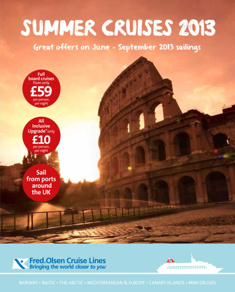Fred. Olsen Cruise Lines launches 'Summer Sale 2013'