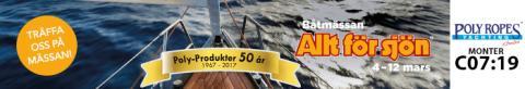 Bild med länk till Evenemangssida PolyRopes på Båtmässan Allt för Sjön i Stockholm