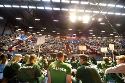 introduktion studenter scen bombardier arena publik linjeförening