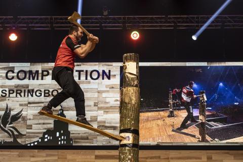 VM i Timbersports till Göteborg hösten 2020
