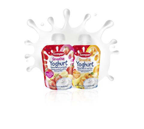 Smoothie Yoghurt en nyhet i klämpåse
