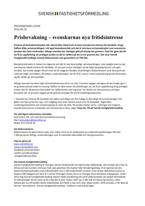 Prisbevakning – svenskarnas nya fritidsintresse