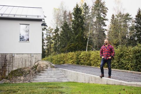 Bjørn bygger bo – Støpt støttemur 1