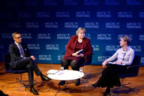Arctic Frontiers Policy 2015, Armchair debate Alexander Stubb, Erna Solberg & Kristina Persson