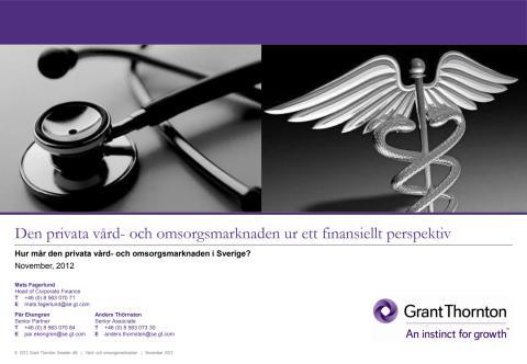Ny undersökning om utvecklingen i den privata vård- och omsorgsmarknaden