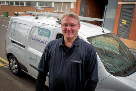 Openreach plugs-in Birmingham electric vehicle trial in a bid to drive down carbon footprint