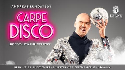 ANDREAS LUNDSTEDTS DISCOSHOW CARPE DISCO INTAR STORA SALONGEN