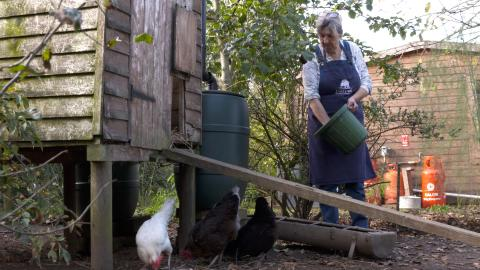 Tina, 59 - on her smallholding in Hampshire