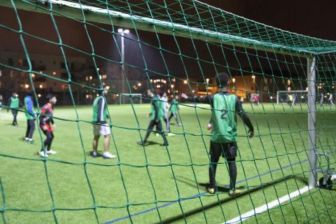 Football For All-killar utbildas om corona