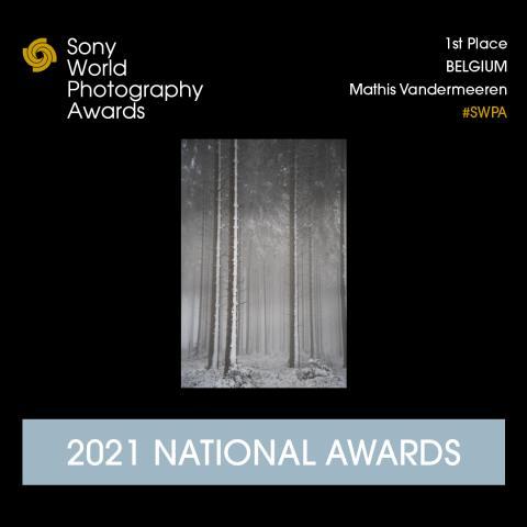 Mathis Vandermeeren wint Belgium National Award 2021