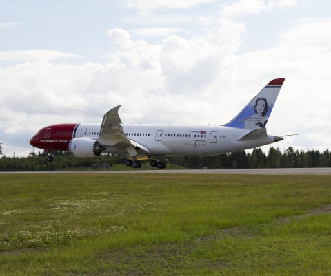 Norwegian's Dreamliner landed at Oslo Airport Gardermoen this morning