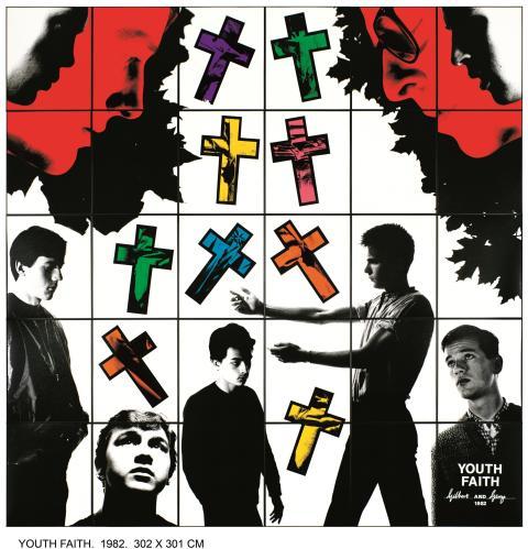 Gilbert & George,  YOUTH  FAITH, 1982