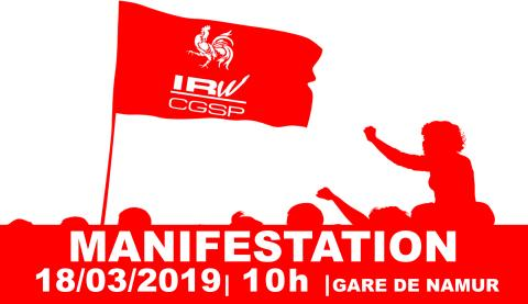 18-03-19 : MANIFESTATION EN FRONT COMMUN POUR DÉFENDRE UNE WALLONIE SOLIDAIRE – NAMUR