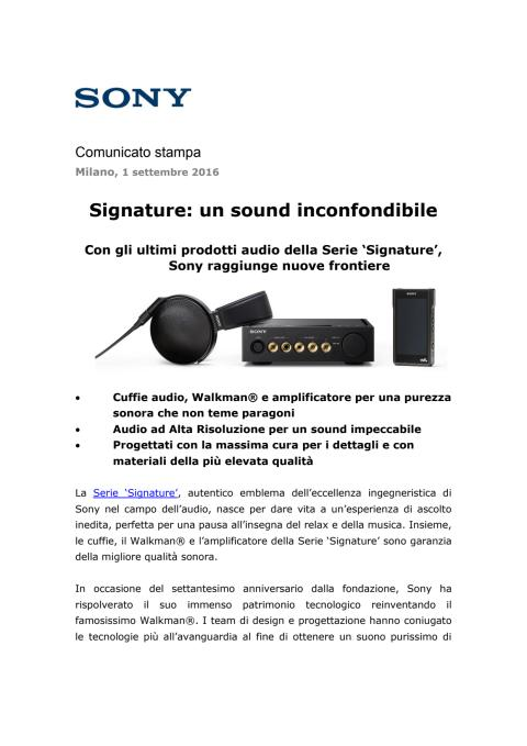 Signature: un sound inconfondibile