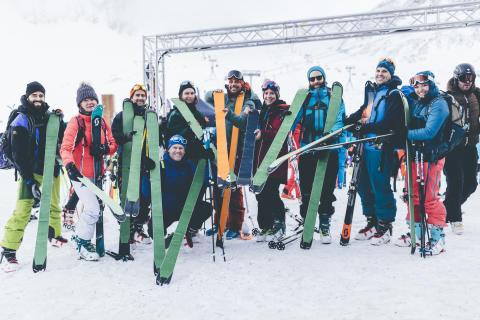 Die Wintersportler hatten vier Tage lang die Chance, über 3.000 neue Produkte zu testen.