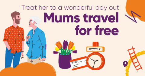 Mums travel for free this Mother's Day