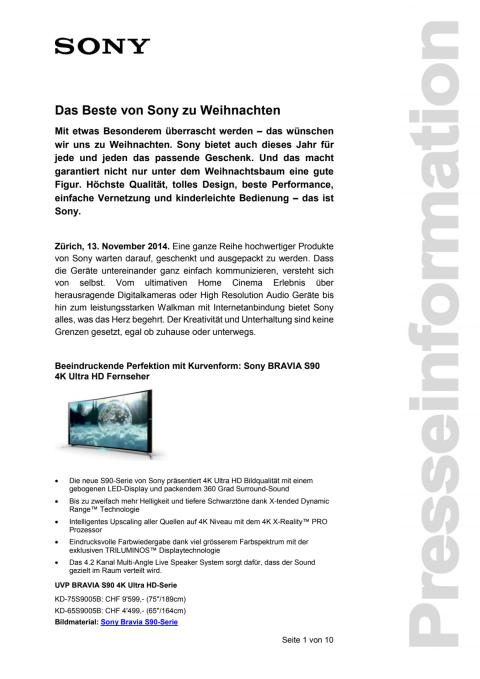 Medienmitteilung_X-MAS 2014_D-CH_141113