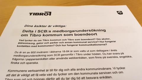 Tibros invånare nöjda med inflytande och kommunal service men fler känner sig otrygga
