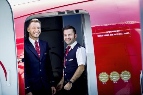 Norwegians kabinansatte om bord Boeing 737-800