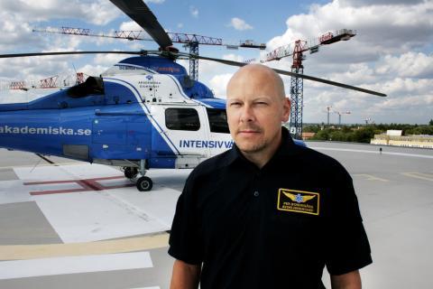 Per Bondegård, sektionschef för luftburen intensivvård Akademiska sjukhuset