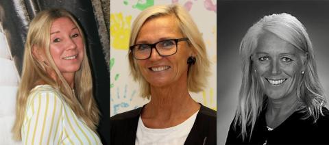 Bildtext från vänster till höger; Carina Ljung, Catarina Möllberg och Marika Andersson.