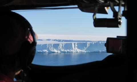 The edge of the Brunt Ice Shelf (Credit: Jan De Rydt)
