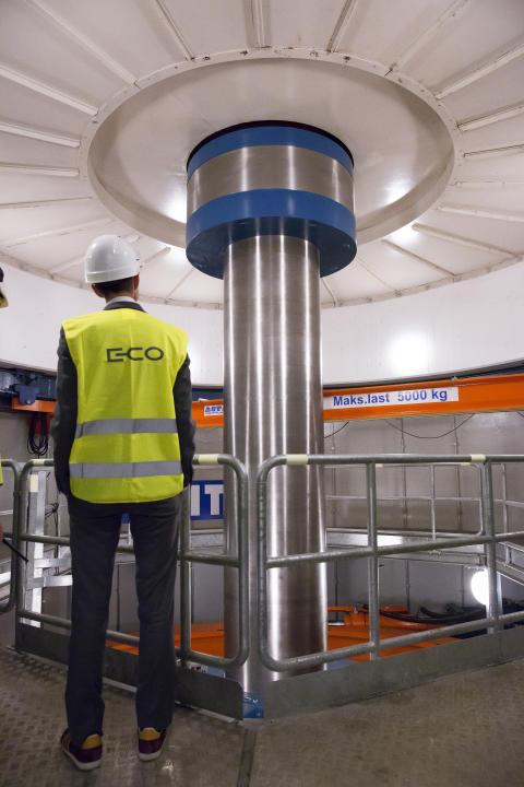 Turbinaksling Embretsfoss kraftstasjon