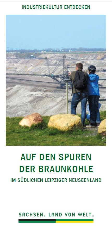 """Prospekt """"Auf den Spuren der Braunkohle"""""""