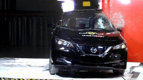 Electric Nissan LEAF generates five-star rating in Euro NCAP's most exacting tests ever
