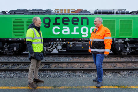 Godsdirektör på Bane NOR, Oskar Stenstrøm & Bengt Fors VD Green Cargo Norge MBR-201209-00544