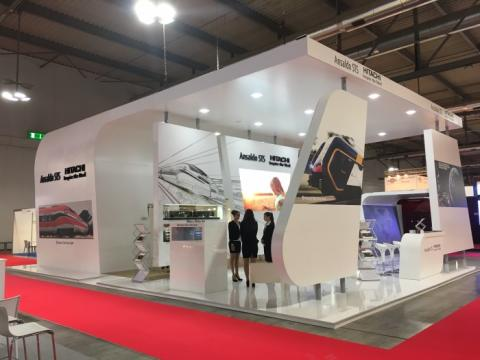 Joint Hitachi Rail Italy and Ansaldo STS stand at Expo Ferroviaria
