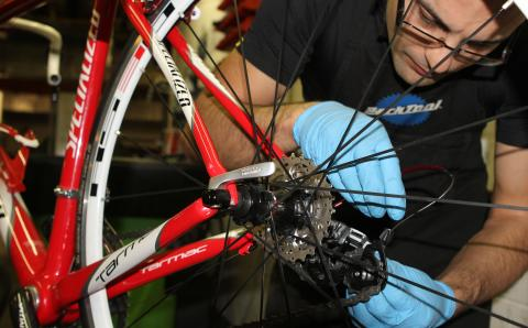 BOR3301-21 Law Mohammed Repairing Bike