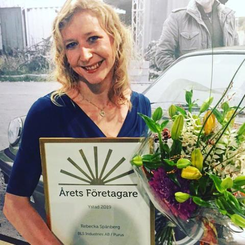 Rebecka Spånberg Årets Företagare i Ystad