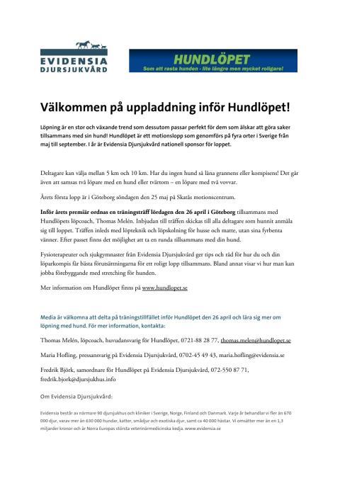 Inför Hundlöpet Göteborg