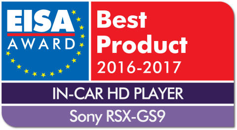 EUROPEAN IN-CAR HD PLAYER 2016-2017 - Sony RSX-GS9 drop shadow