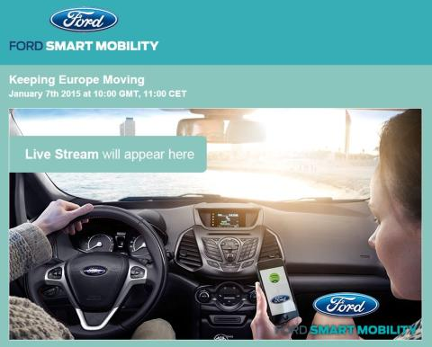 Keep Europe Moving - Ford online webinar event