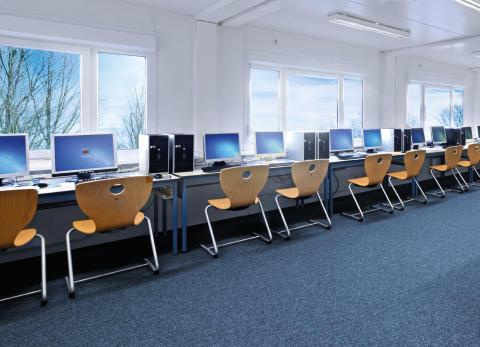 PC-Raum_Schulgebäude_in Modularer Bauweise