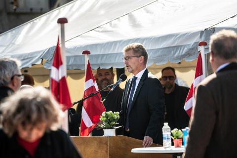 Overborgmester Frank Jensen hyldede det gode håndværk og fremhævede vigtigheden af god kvalitet i byudviklingen